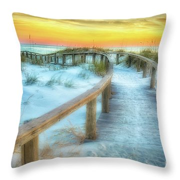 Where The Path Leads Throw Pillow