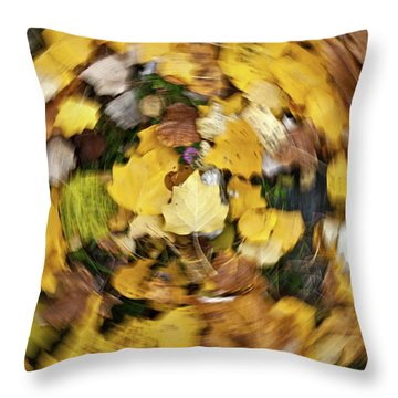 Throw Pillow featuring the photograph Whirlpool Of Autumn by Awais Yaqub