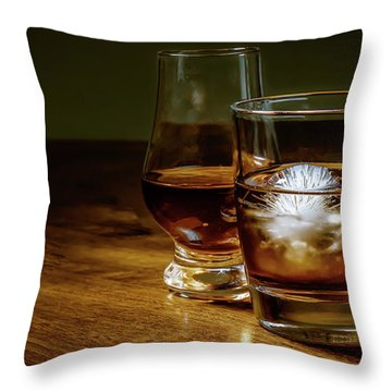 Whisky For Two Throw Pillow