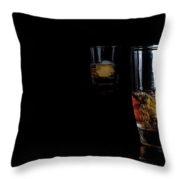 Whisky On Ice For Two Throw Pillow