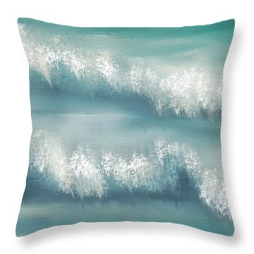 Whispering Waves Throw Pillow