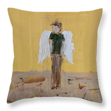 Whistling Angel Throw Pillow