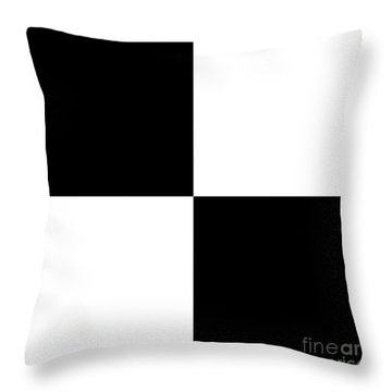 White And Black Squares - Ddh586 Throw Pillow