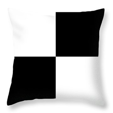 White And Black Squares - Ddh588 Throw Pillow