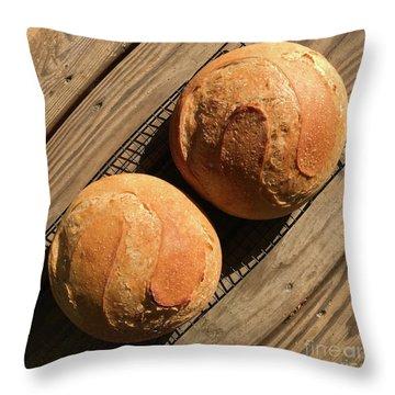 White And Rye Sourdough S's Throw Pillow