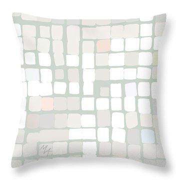 Throw Pillow featuring the digital art White by Attila Meszlenyi
