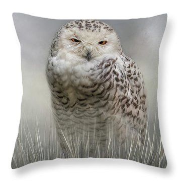 White Beauty In The Field Throw Pillow