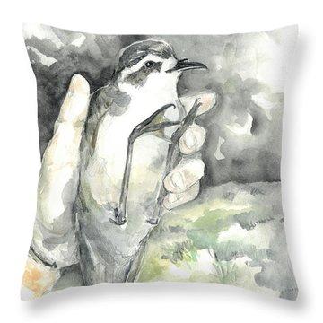White-faced Storm-petrel Throw Pillow