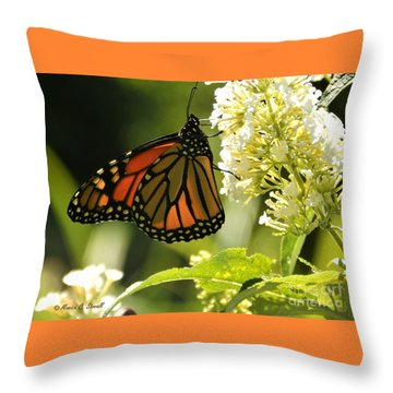 White Flowers W12 Throw Pillow
