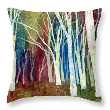 White Forest I Throw Pillow