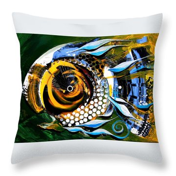 White-headed Mouth Fish Throw Pillow