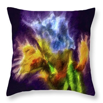 White Lily Bud #i0 Throw Pillow