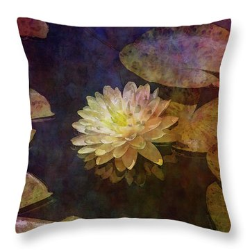 White Lotus Lily Pond 2938 Idp_2 Throw Pillow