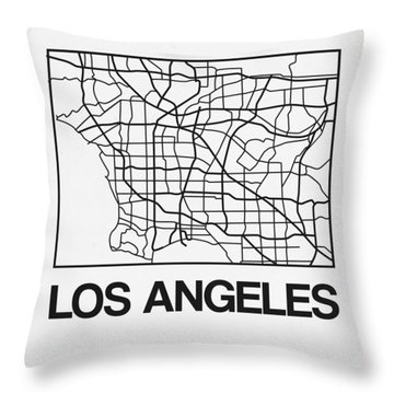 White Map Of Los Angeles Throw Pillow