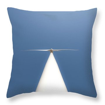 Throw Pillow featuring the photograph White On Blue by Carl Young