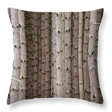 White Pines Throw Pillow