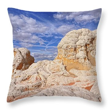 Throw Pillow featuring the photograph White Pocket Scenic by Theo O'Connor