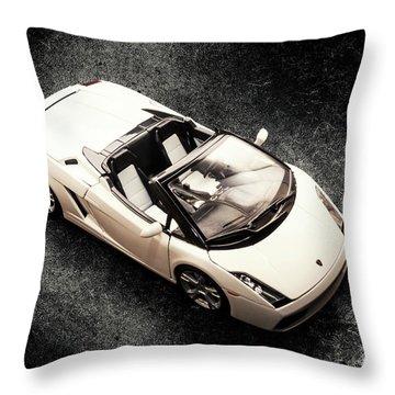 White Spyder Throw Pillow