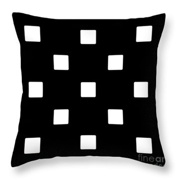 White Squares On A Black Background- Ddh576 Throw Pillow