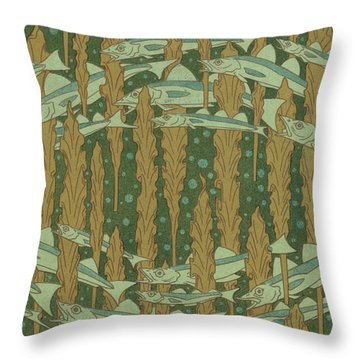 Whiting And Seaweed Throw Pillow