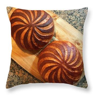 Whole Wheat Sourdough Swirls Throw Pillow
