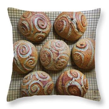 Whole White Wheat, Flax And Rye Sourdough X 7 Throw Pillow