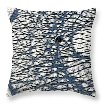 Throw Pillow featuring the digital art Wicker Shadows by Sarajane Helm