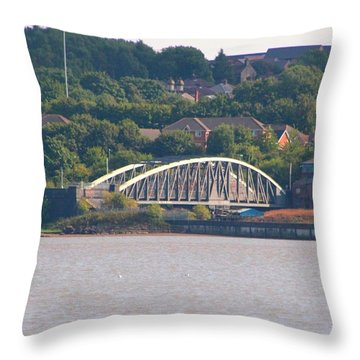 Wigg Island Swingbridge Throw Pillow