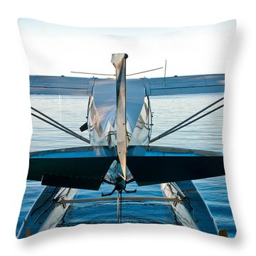 Throw Pillow featuring the photograph Wild Blue by Carl Young