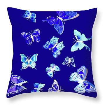 Wild Blue Spring Throw Pillow