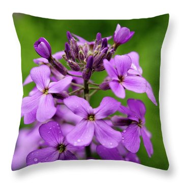 Wild Flowers In The Forest Throw Pillow