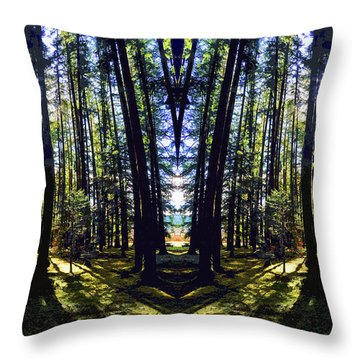 Wild Forest #1 Throw Pillow