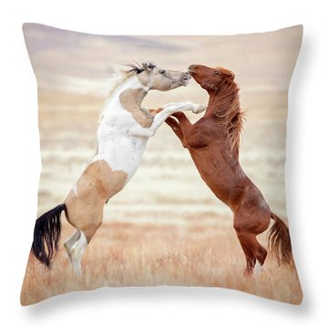 Wild Horses Couldn't Drag Me Away Throw Pillow