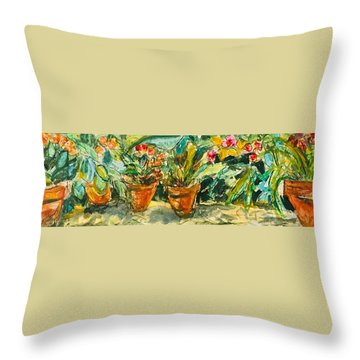 Wild Orchid Throw Pillow