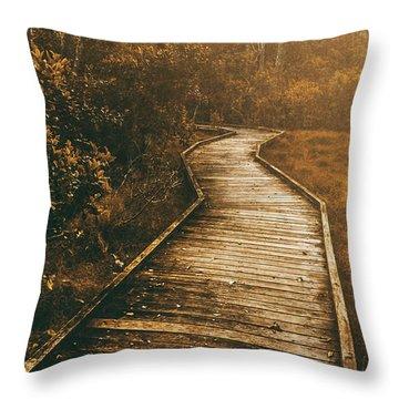 Wild Routes Throw Pillow
