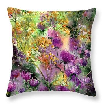 Wild Tansy Throw Pillow