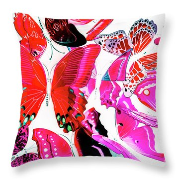 Wild Vibrancy Throw Pillow