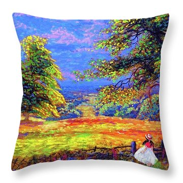 Flower Fields Throw Pillow