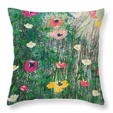 Wildflowers- Art By Linda Woods Throw Pillow