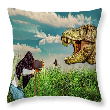 Wildlife Photographer  Throw Pillow