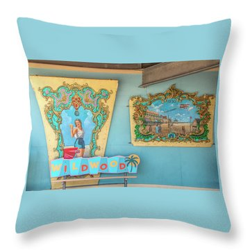 Throw Pillow featuring the photograph Wildwood Days 2 by Kristia Adams