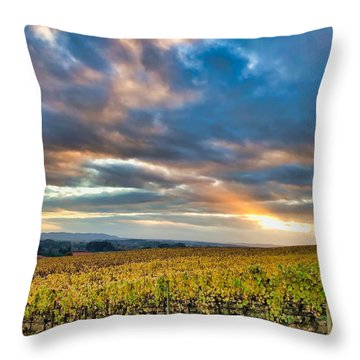 Willamette Valley In Fall Throw Pillow