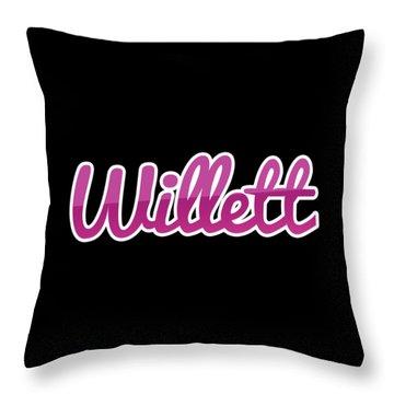 Willett #willett Throw Pillow