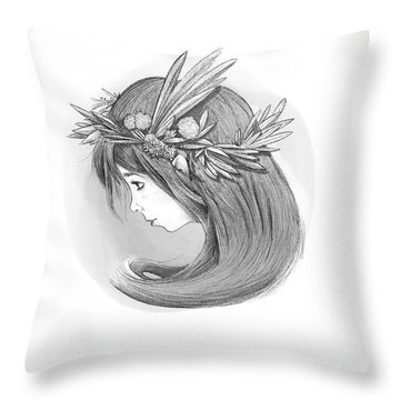 Willow's Whispers Throw Pillow