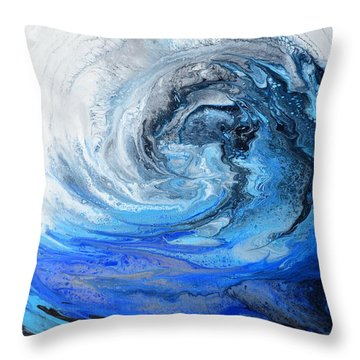Wind And Wave Throw Pillow