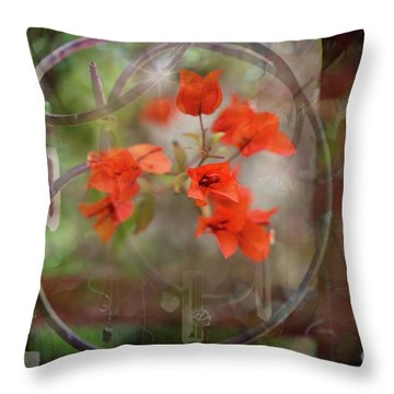 Wind Chimes Through The Window Throw Pillow
