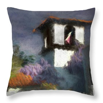 Wind In The Tower Washline Throw Pillow
