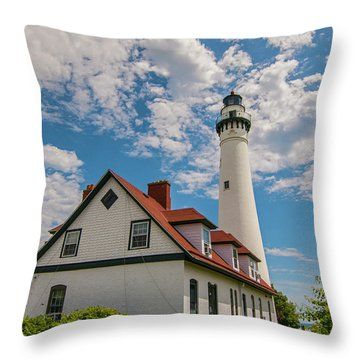 Wind Point Lighthouse No. 2 Throw Pillow