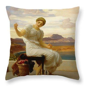 Winding The Skein, 1878 Throw Pillow