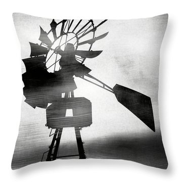 Windmill In The Wind- Art By Linda Woods Throw Pillow